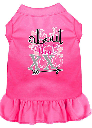 All About The Xoxo Screen Print Dog Dress-Valentines-Bella's PetStor