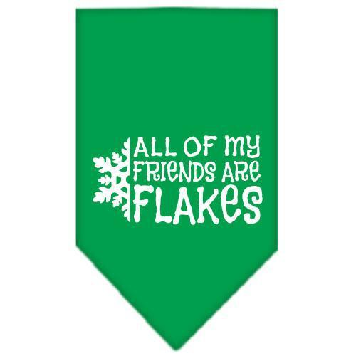 All My Friends Are Flakes Screen Print Bandana-Christmas, Hannakuh-Bella's PetStor