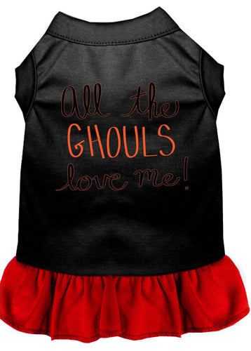 All The Ghouls Screen Print Dog Dress-Holidays-Bella's PetStor