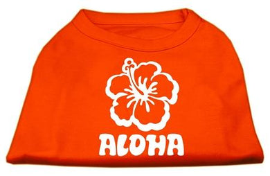 Aloha Flower Screen Print Shirt-Valentines-Bella's PetStor