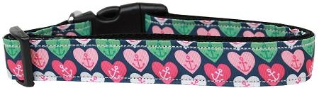 Anchor Candy Hearts Nylon Cat Collar-CATS-Bella's PetStor