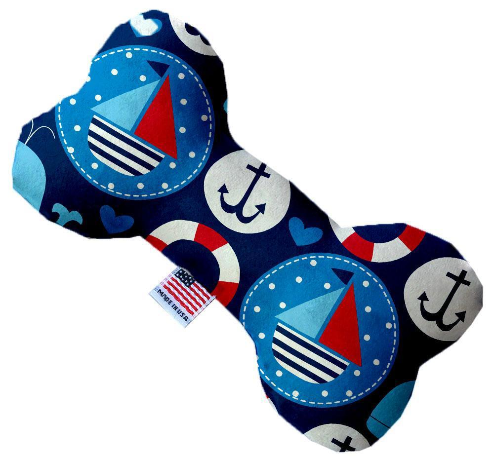 Anchors Away Inch Canvas Bone Dog Toy-Dog Toys(soft)-Bella's PetStor