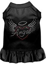 Load image into Gallery viewer, Angel Heart Rhinestone Dress Black-Dog Dresses-Bella's PetStor