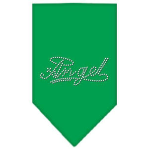 Angel Rhinestone Bandana Emerald Green Small-Angel rhinestone bandana-Bella's PetStor