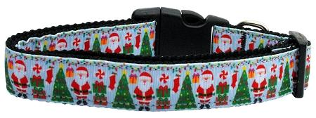 Aqua Santa Nylon Cat Collar-Dog Collars-Bella's PetStor