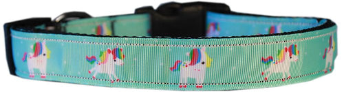 Aqua Unicorns Nylon Cat Safety Collar-CATS-Bella's PetStor