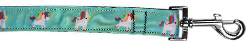 Aqua Unicorns Nylon Dog Collar-Dog Collars-Bella's PetStor