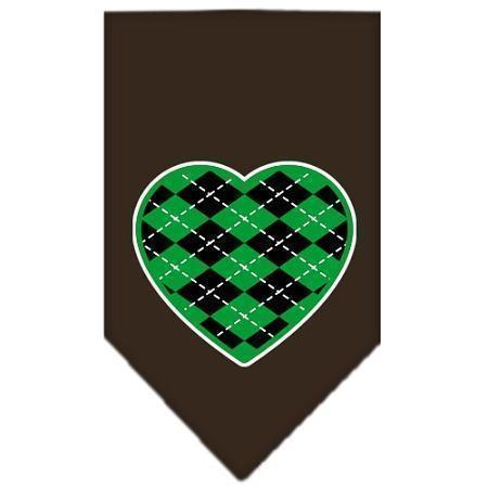Argyle Heart Green Screen Print Bandana-Argyle Heart Green-Bella's PetStor
