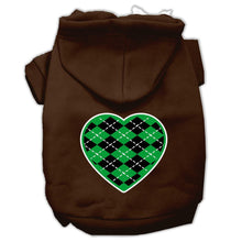 Load image into Gallery viewer, Argyle Heart Green Screen Print Pet Hoodies Size-Dog Clothing-Bella's PetStor