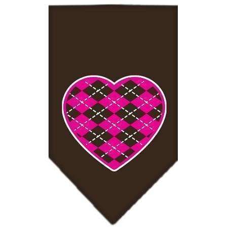 Argyle Heart Pink Screen Print Bandana-Dog Clothing-Bella's PetStor