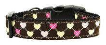 Load image into Gallery viewer, Argyle Hearts Nylon Ribbon Collar Bright Pink-DOGS-Bella's PetStor