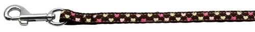 Argyle Hearts Nylon Ribbon Leash Wide Long-DOGS-Bella's PetStor