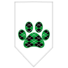 Load image into Gallery viewer, Argyle Paw Green Screen Print Bandana-Dog Clothing-Bella's PetStor