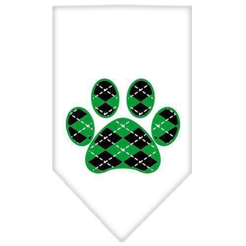 Argyle Paw Green Screen Print Bandana-Dog Clothing-Bella's PetStor