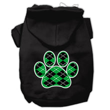 Load image into Gallery viewer, Argyle Paw Green Screen Print Pet Hoodies Size-Dog Clothing-Bella's PetStor