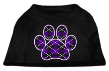 Load image into Gallery viewer, Argyle Paw Purple Screen Print Shirt-Valentines-Bella's PetStor