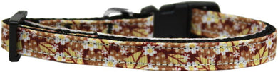 Autumn Leaves Nylon Ribbon Cat Safety Collar-Dog Collars-Bella's PetStor