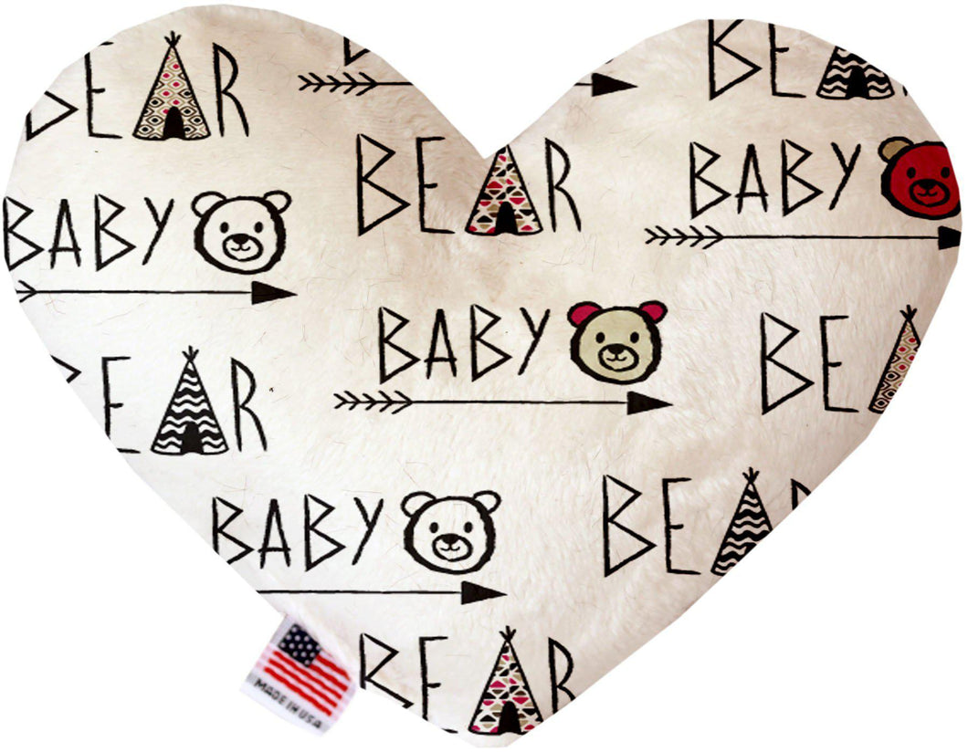 Baby Bear Inch Canvas Heart Dog Toy-Made in the USA-Bella's PetStor
