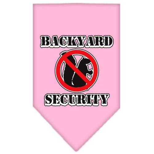 Backyard Security Screen Print Bandana Light Pink Large-backyard security screen print bandana-Bella's PetStor