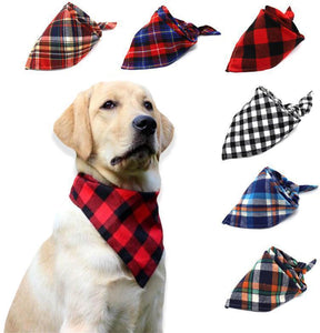 Bandana, 100% Cotton, 6 Colors, Plaid, (42*42*64cm)-Overseas,-Bella's PetStor