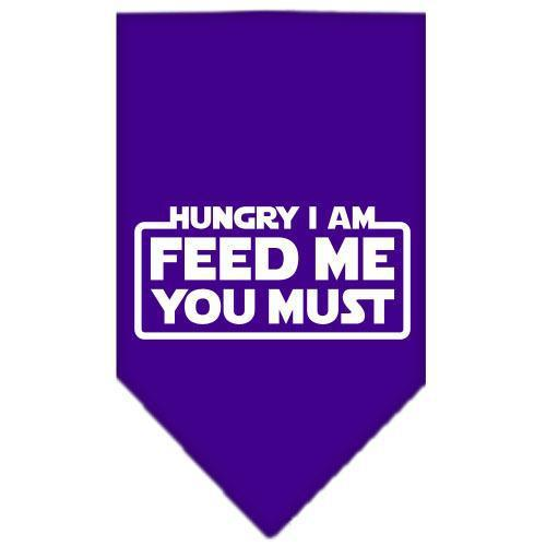 Bandana, HUNGRY I AM, Purple - Large-Neckwear-Bella's PetStor