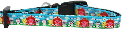 Barnyard Buddies Nylon Ribbon Cat Safety Collar-Dog Collars-Bella's PetStor