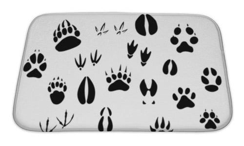 Bath Mat, Animal Footprints Silhouettes-Bath Mat-Bella's PetStor