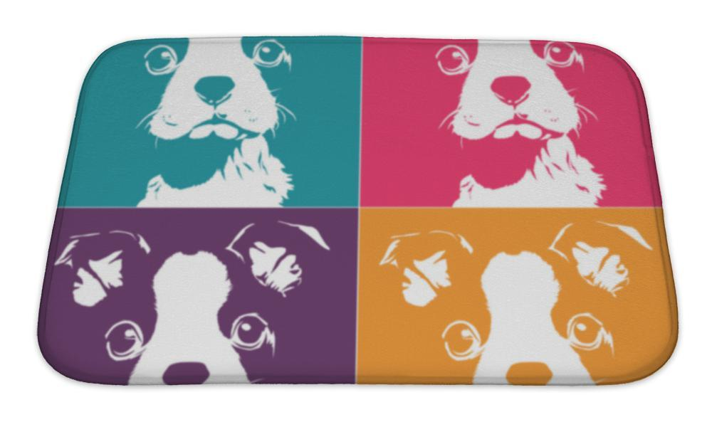 Bath Mat, Boston Terrior Pop Up-Bath Mat-Bella's PetStor