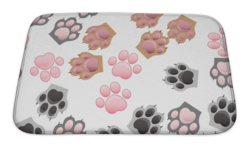 Bath Mat, Cat And Dog Paw Print With Claws-Bath Mat-Bella's PetStor