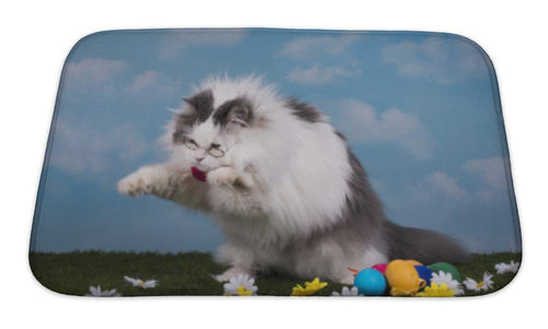 Bath Mat, Cat Catches Its Prey In The Grass-Bath Mat-Bella's PetStor
