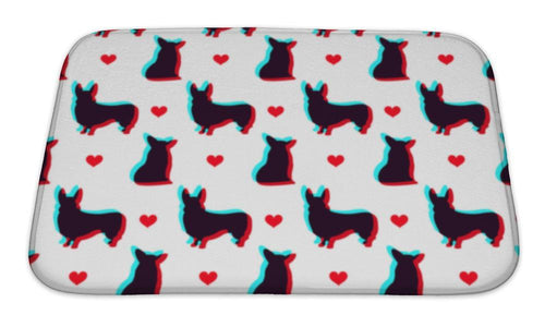 Bath Mat, Corgi Dog With 3d Effect Pattern For Use In Design-Bath Mat-Bella's PetStor