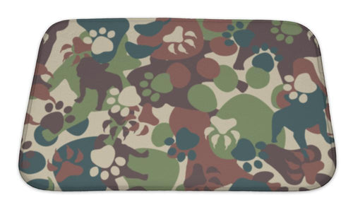 Bath Mat, Dog Camouflage Pattern-Bath Mat-Bella's PetStor
