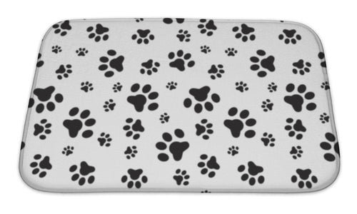 Bath Mat, Dog Paws Pattern-Bath Mat-Bella's PetStor