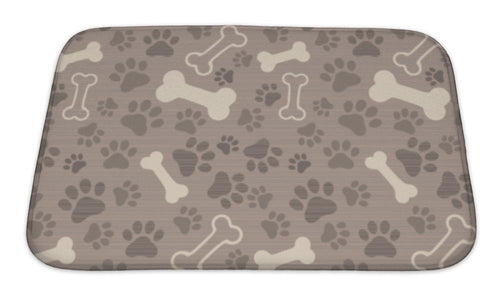 Bath Mat, Patern Pet Paw Print And Bone-Bath Mat-Bella's PetStor