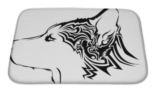 Bath Mat, Tribal Wolf Tattoo-Bath Mat-Bella's PetStor
