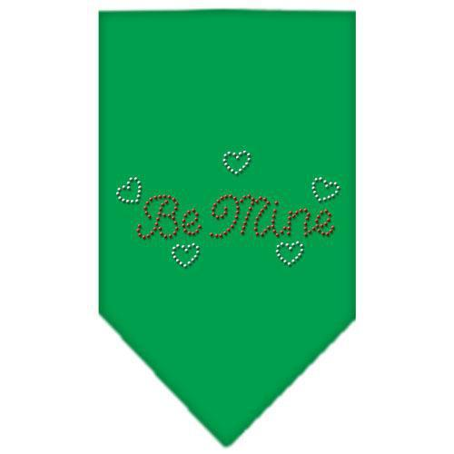 Be Mine Rhinestone Bandana Emerald Green Small-Be mine rhinestone bandana-Bella's PetStor
