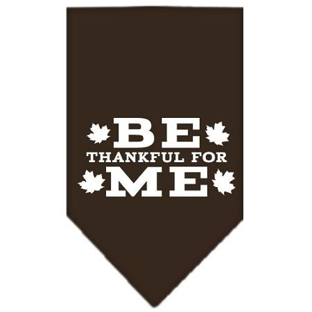 Be Thankful for Me Screen Print Bandana Cocoa Small-Be thankful for me screen print bandana-Bella's PetStor