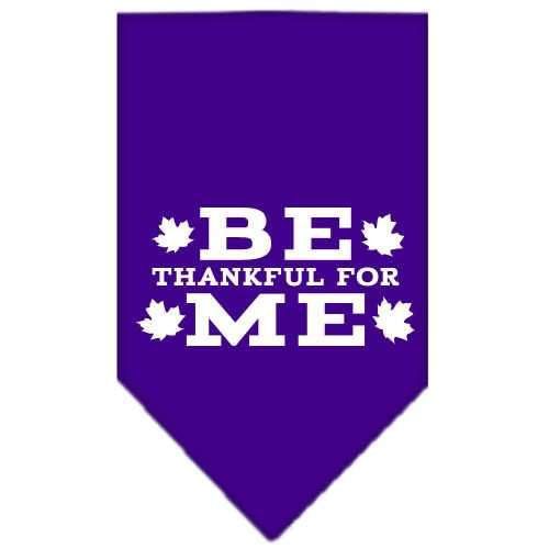 Be Thankful for Me Screen Print Bandana Purple Small-Be thankful for me screen print bandana-Bella's PetStor