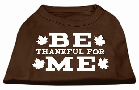 Be Thankful For Me Screen Print Shirt Brown-Dog Shirts-Bella's PetStor