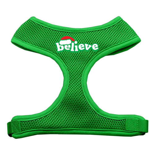 Believe Screen Print Soft Mesh Harnesses-Christmas, Hannakuh-Bella's PetStor