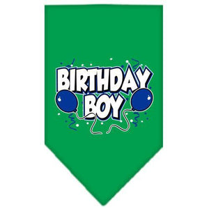 Birthday Boy Screen Print Bandana Emerald Green Small-birthday boy screen print bandana-Bella's PetStor