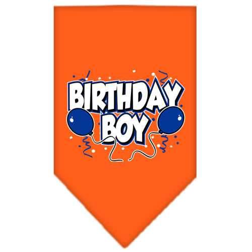 Birthday Boy Screen Print Bandana Orange Small-birthday boy screen print bandana-Bella's PetStor