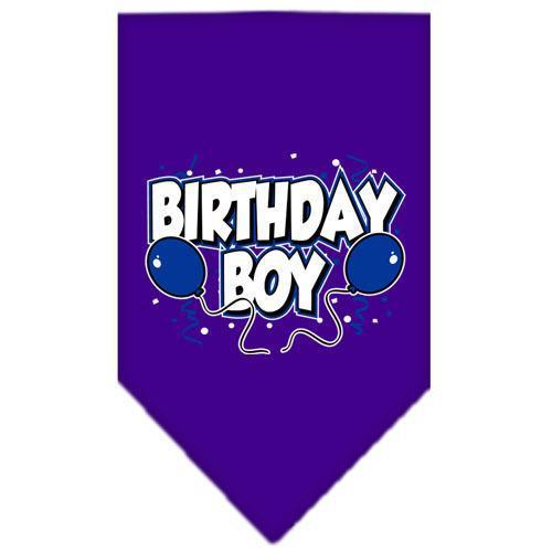 Birthday Boy Screen Print Bandana Purple Small-birthday boy screen print bandana-Bella's PetStor