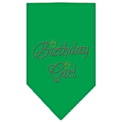 Birthday Girl Rhinestone Bandana Emerald Green Small-Birthday girl rhinestone bandana-Bella's PetStor
