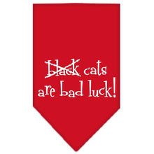 Load image into Gallery viewer, Black Cats Are Bad Luck Screen Print Bandana-Dog Clothing-Bella's PetStor