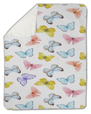 Blanket, Watercolor butterfly-Blankets-Bella's PetStor