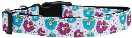 Blue And Purple Hibiscus Flower Nylon Cat Collar-DOGS-Bella's PetStor