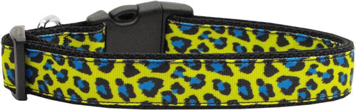 Blue And Yellow Leopard Nylon Cat Collar-DOGS-Bella's PetStor