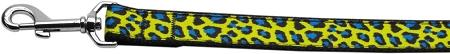 Blue And Yellow Leopard Nylon Dog Leash Inch Wide Long-DOGS-Bella's PetStor