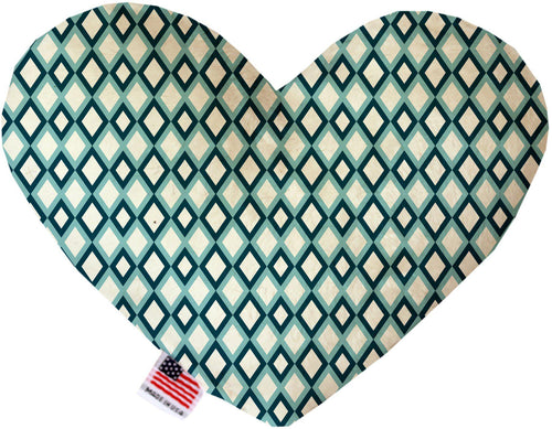 Blue Diamonds Inch Canvas Heart Dog Toy-Made in the USA-Bella's PetStor